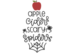 Apple cider & scary spiders