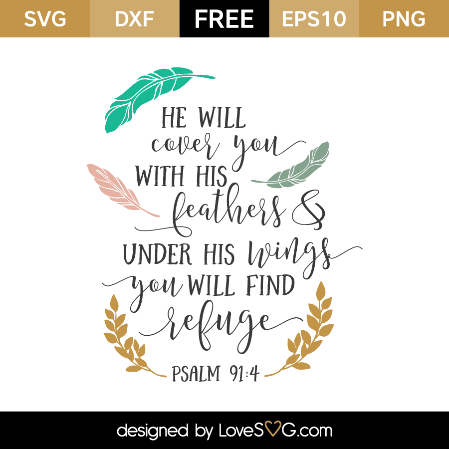 Download Psalm 91:4 - Lovesvg.com
