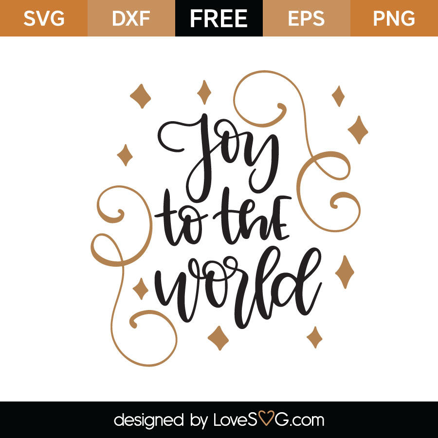 Download Joy To The World SVG Cut File - Lovesvg.com