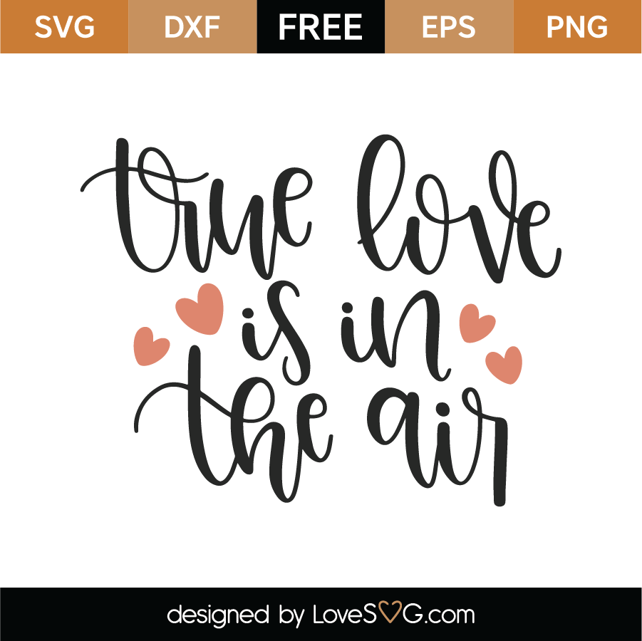 Download Free True Love Is In The Air SVG Cut File - Lovesvg.com