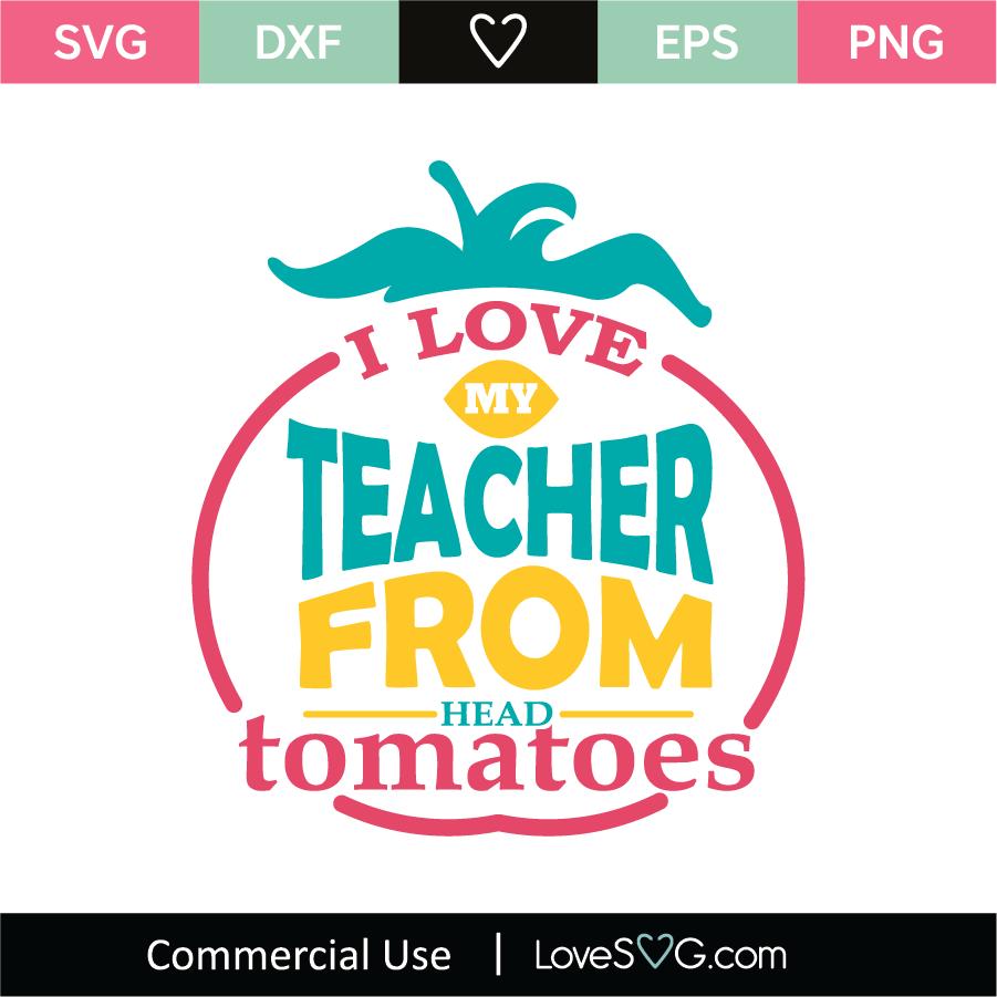 Download I Love You Teacher SVG Cut File - Lovesvg.com
