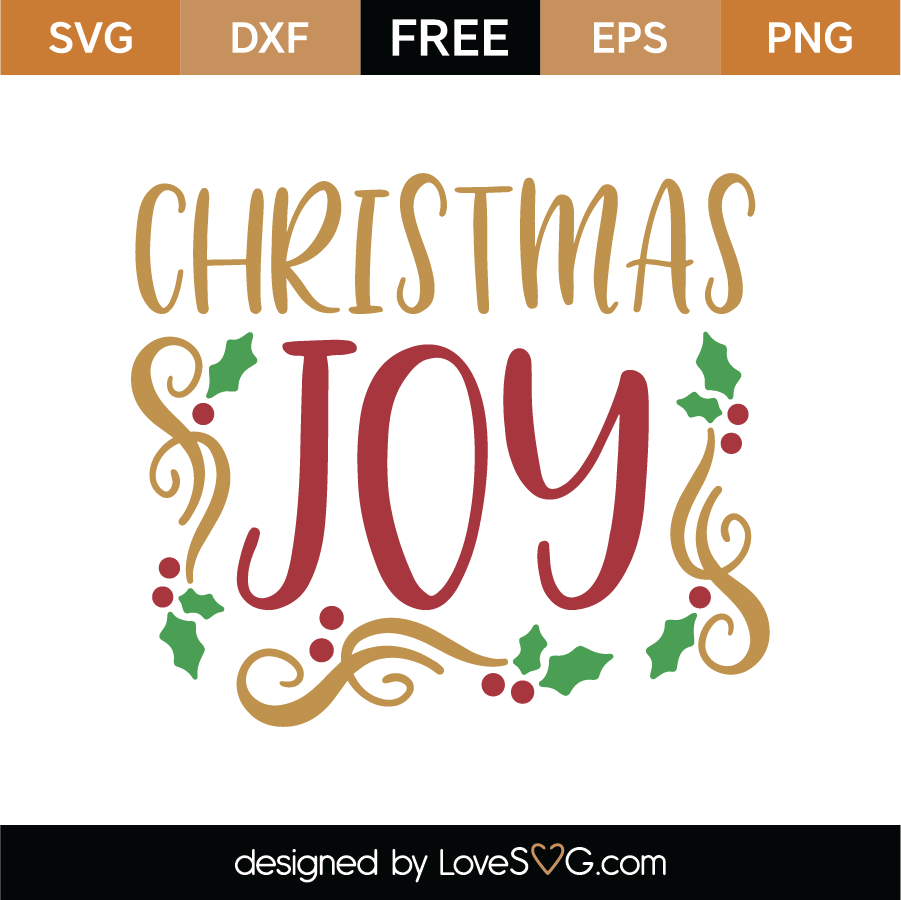 Download Christmas Joy SVG Cut File - Lovesvg.com