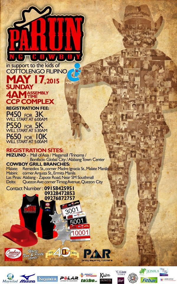 Run Teacher Run: PaRun ng Cowboy at May 17 (RestoBar Fun Run with a Cause)