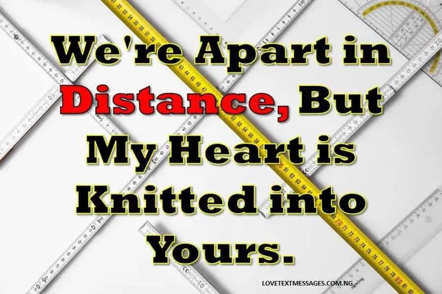 Distance text message