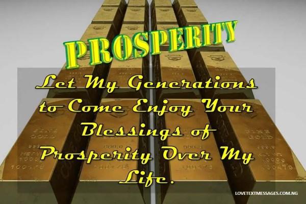 Prayer for Prosperity