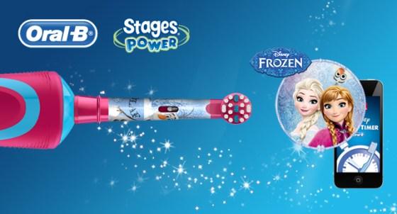 tandenpoetsen oral b frozen elektrische tandenborstel