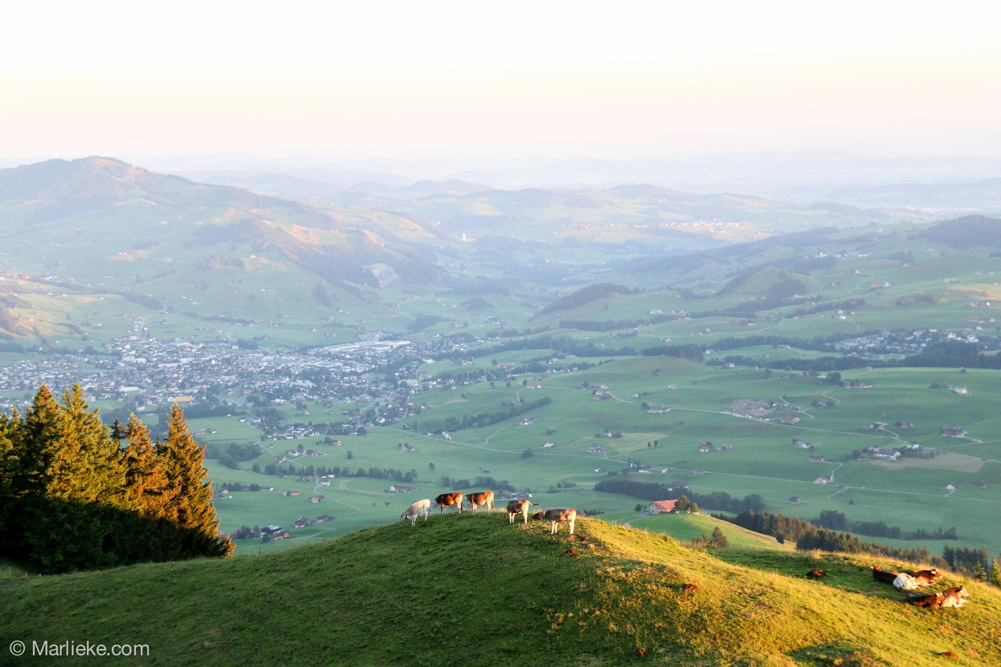 En aan de andere kant een fantastisch uitzicht!