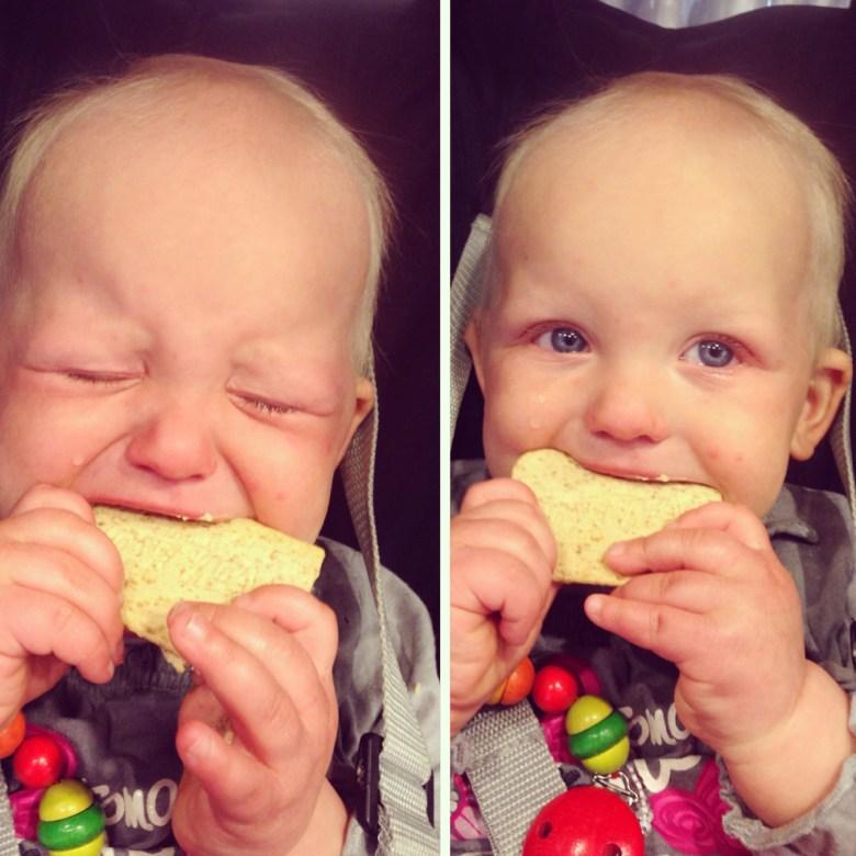 Een bezoekje aan de Ikea op dinsdagochtend. Liza was in tranen omdat ze geen hapje van Eva's ijsje mocht.