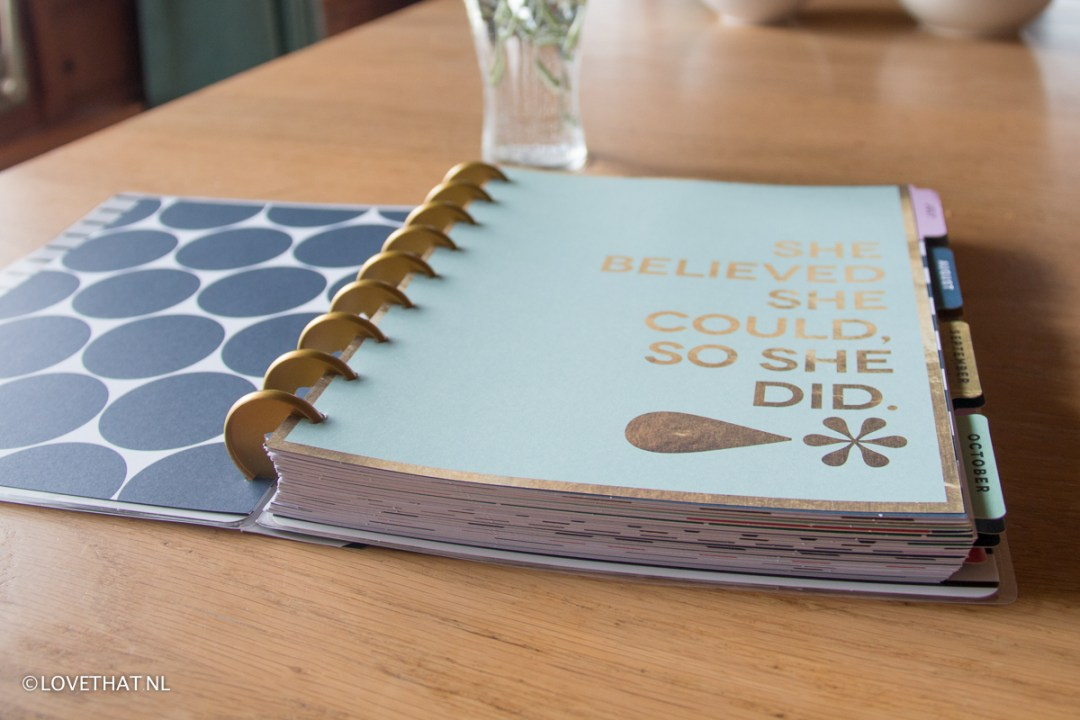 Happy planner is inclusief toffe quotes!