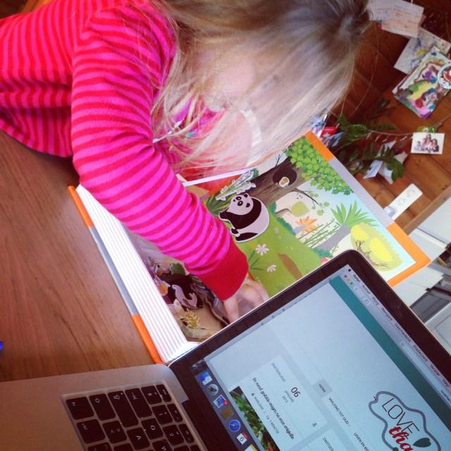 En terwijl ik dacht dat ik wel kon werken, besloot Eva haar tijd even te claimen. Gelijk had ze!