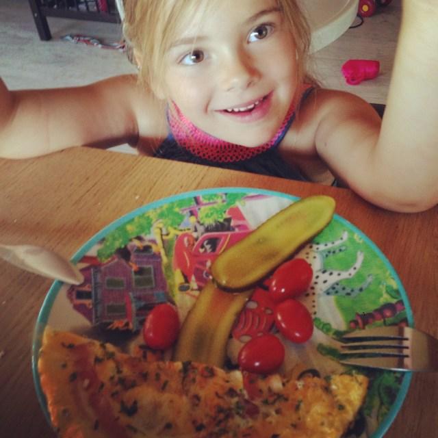 Eva kreeg een lekkere lunch woensdagmiddag.
