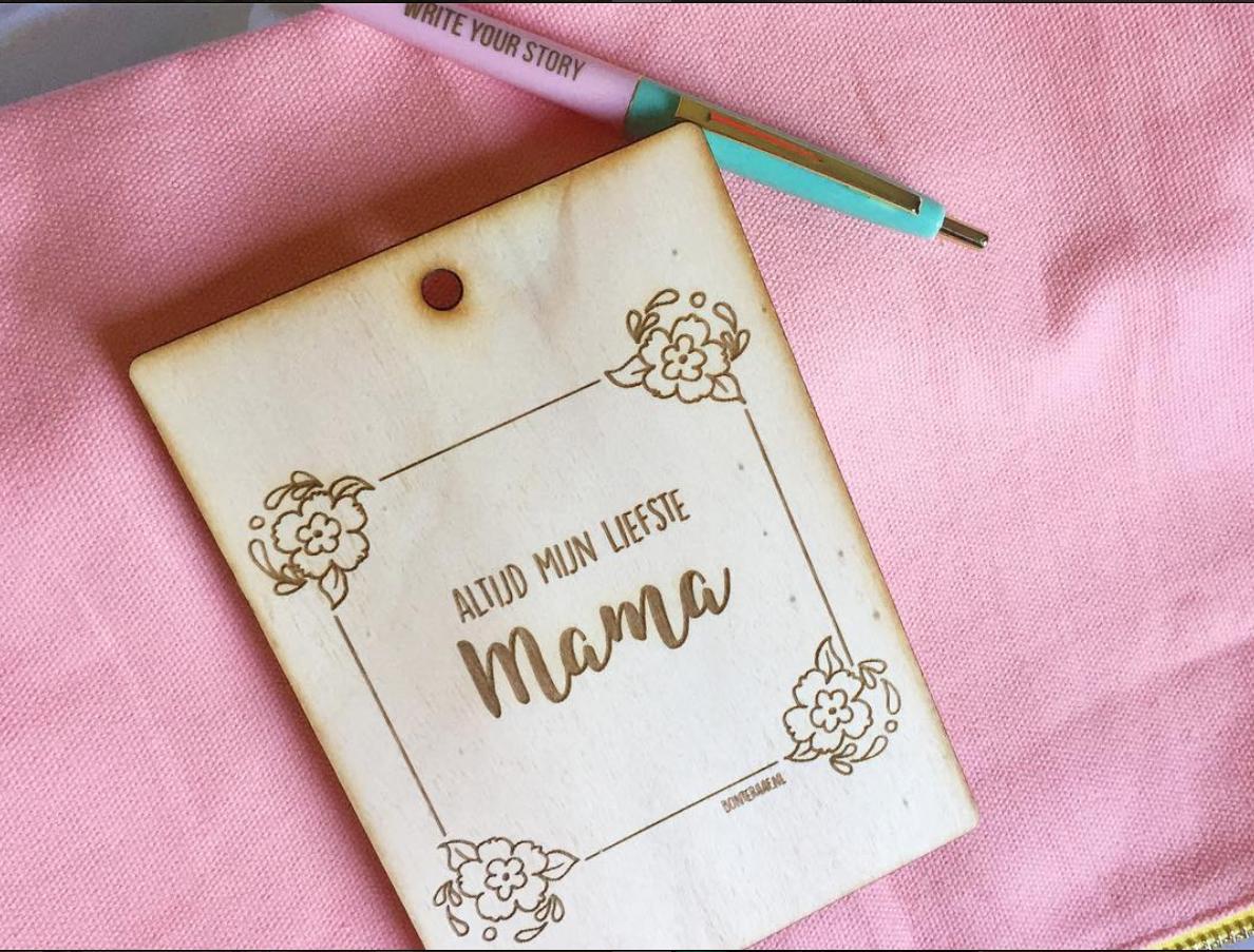 moederdagkaart bonte raaf