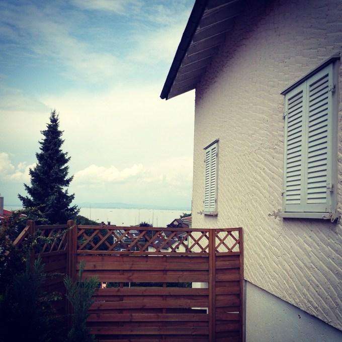 Dit uitzicht is toch wel bijzonder. Het huis was prettig ingericht en de buitenboel was ook nog eens goed ingericht op een grote hond.