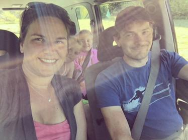 En wij ook in de nieuwe auto! vroem vroem!!!!