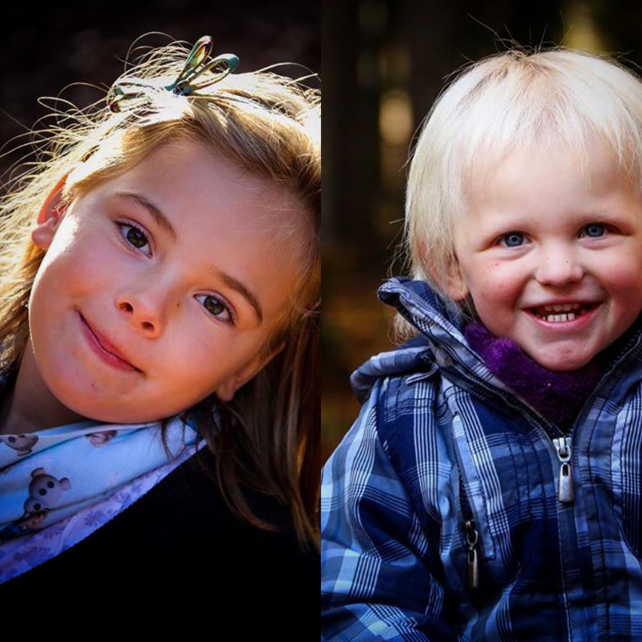 En twee portretten van de meiden