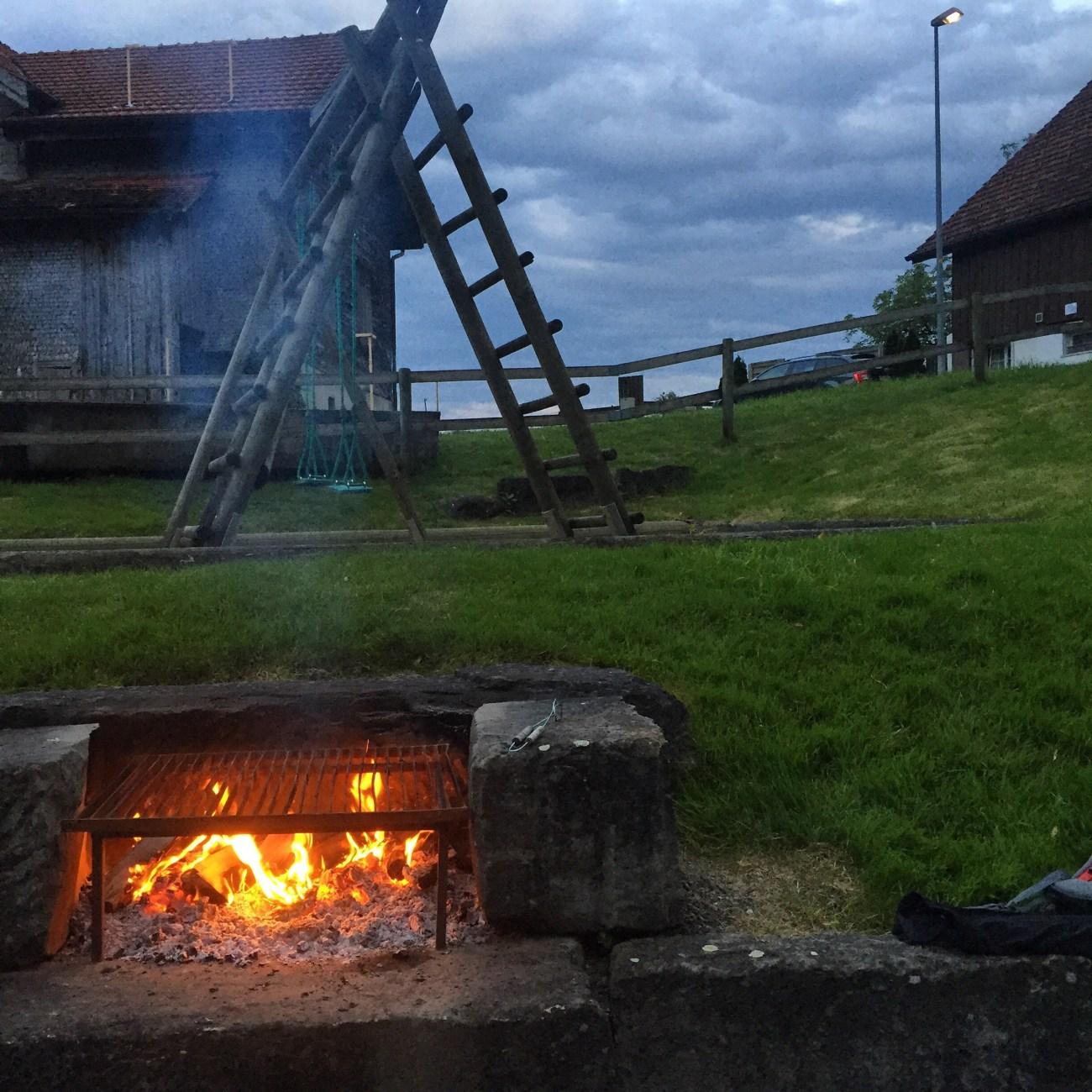 Een mooie woensdagavond in Eichberg.