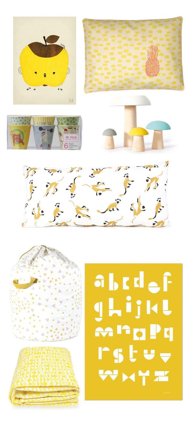 Gele accesoires, ideaal voor lente in je huis