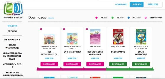 Een screenshot van de downloadpagina