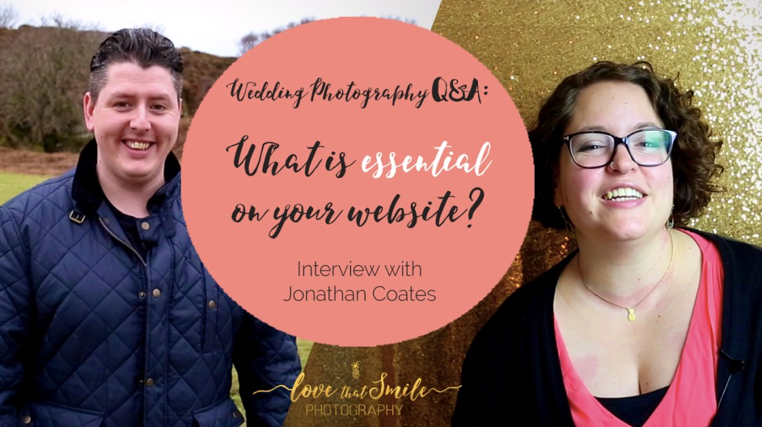 What is essential on your wedding photography website