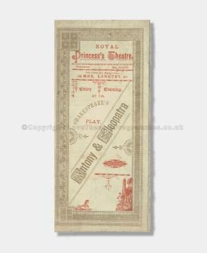 1890 - Royal Princess's Theatre - Antony & Cleopatra