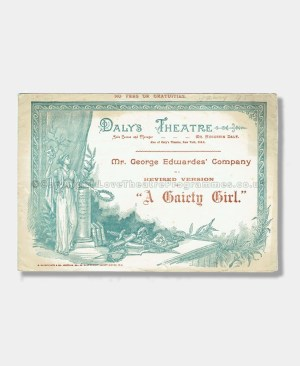 1894 - Daly's Theatre - A Gaiety Girl