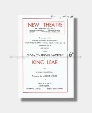 1947 KING LEAR New Theatre