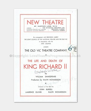 1947 New Theatre King Richard II