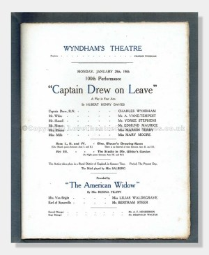 1906 Wyndham's Theatre 100th performance