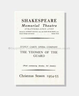 1955 D'Oyly Carte Shakespeare Memorial Theatre