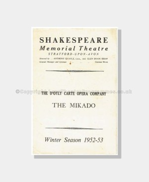 1952 D'Oyly Carte The Mikado