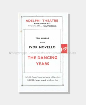1943 THE DANCING YEARS Adelphi Theatre