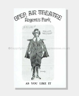 1973 AS YOU LIKE IT Regent's Park
