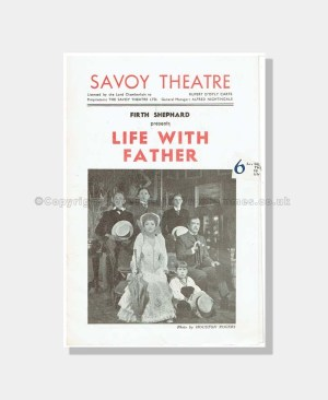 1947 LIFE WITH FATHER Savoy Theatre