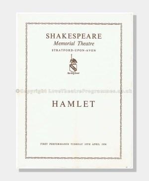 1956 HAMLET Shakespeare Memorial Theatre