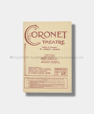 1909 WIDOWERS HOUSES Coronet Theatre