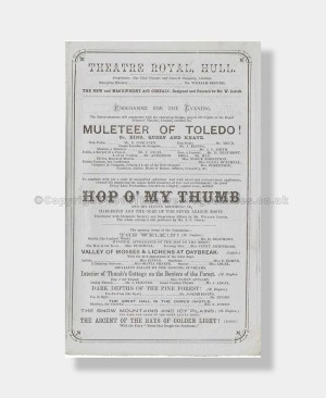 1866 HOP O MY THUMB Theatre Royal, Hull