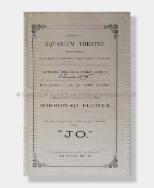 1876 JO Royal Aquarium Theatre, Westminster