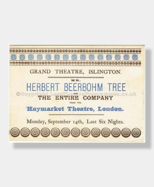 1896 HENRY IV Grand Theatre Islington