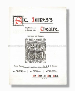 1902 PAOLO AND FRANCESCA St. James's Theatre