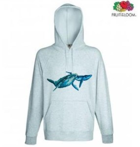 Whale Design Hoodie