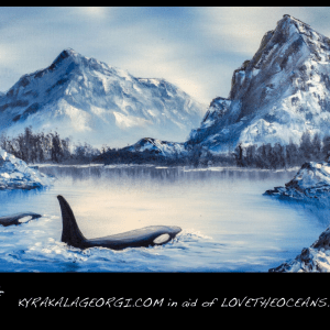 Orca Cold Water Scene Poster