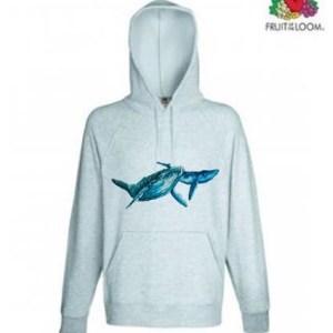 Whale Design Hoodie