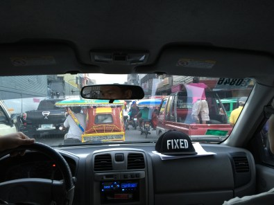 Leaving the busy traffic of Tacloban headed for Samar.