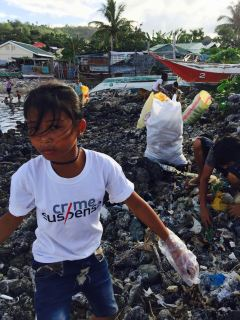 cleaning up the shoreline of botongon