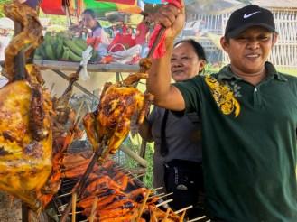 local Filipino vendor cooking native chicken