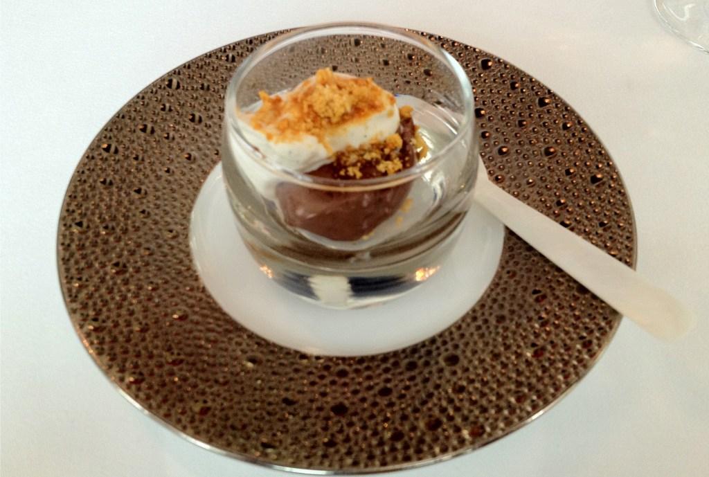 Caviar Russe chocolate ganache on a beautiful plate.