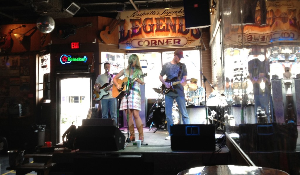 Live band in Nashville.