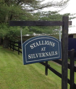 Stallions at Silvernails sign.