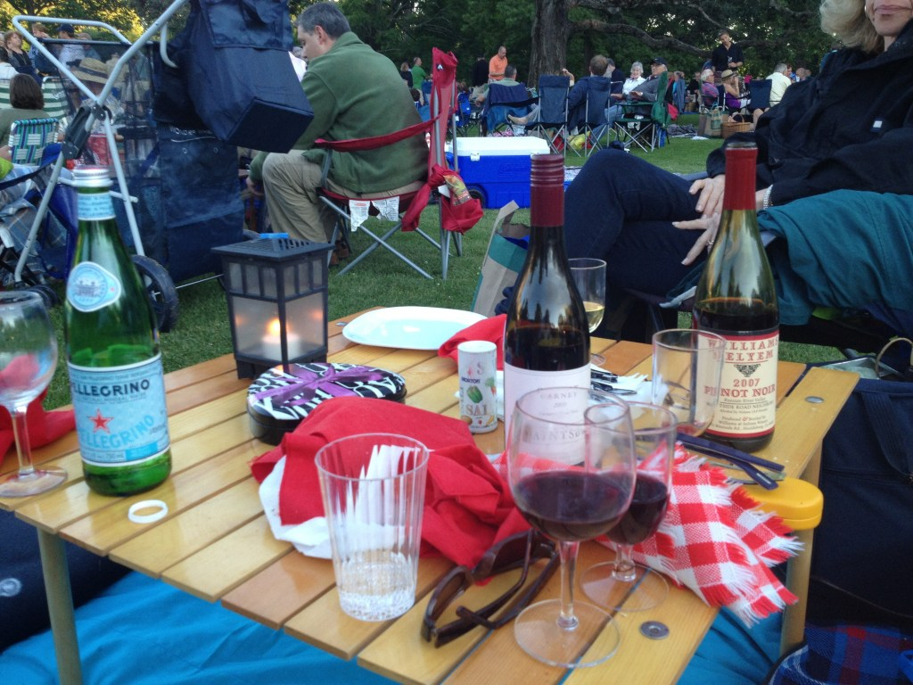 Picnic dinner at Tanglewood.