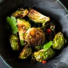 MOMOFUKU'S ROASTED BRUSSELS SPROUTS WITH FISH SAUCE VINAIGRETTE.